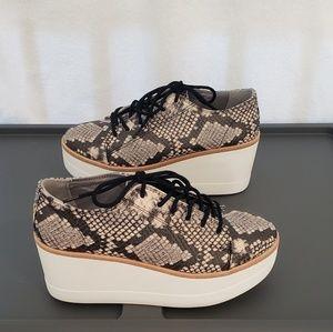 Steve Madden Platform Snake Lace-up Shoes